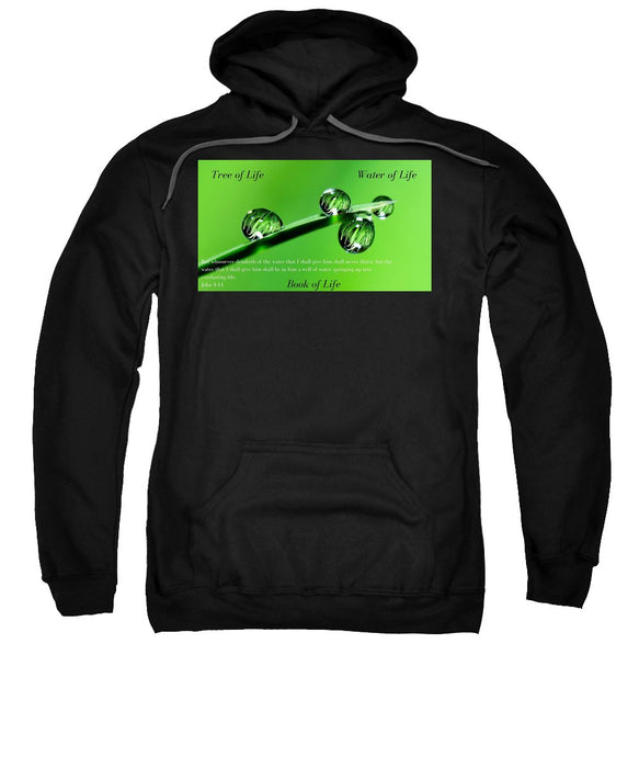 Tree Water Book Of Life Water Drops - Sweatshirt - Love the Lord Inc
