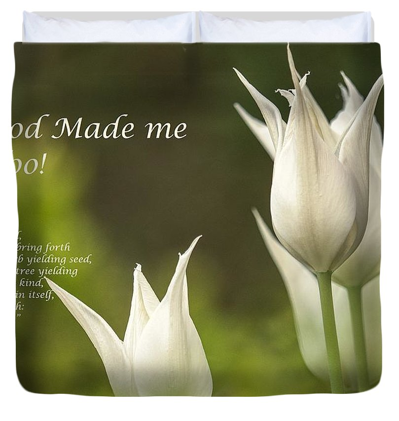 Tulips_God Made Me - Duvet Cover - Love the Lord Inc