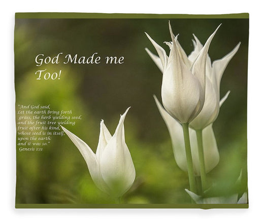 Tulips_God Made Me - Blanket - Love the Lord Inc