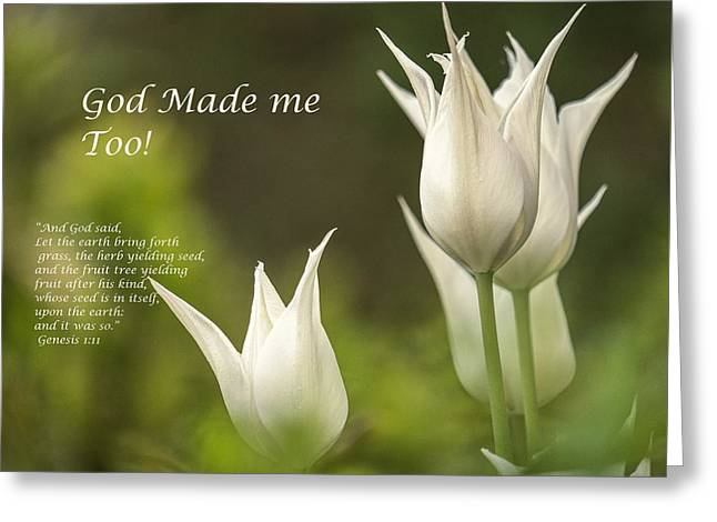 Tulips_God Made Me - Greeting Card - Love the Lord Inc