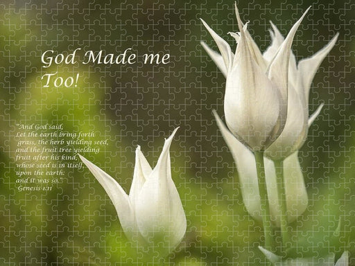 Tulips_God Made Me - Puzzle - Love the Lord Inc