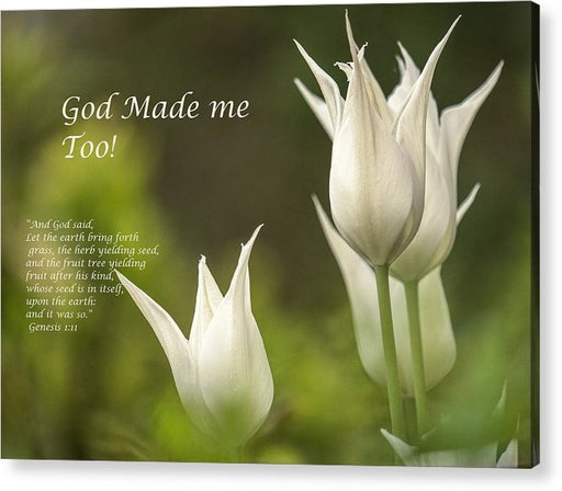 Tulips_God Made Me - Acrylic Print - Love the Lord Inc