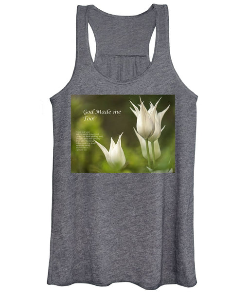 Tulips_God Made Me - Women's Tank Top - Love the Lord Inc