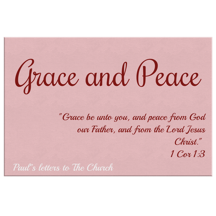 Canvas Print - Grace and Peace (Rose) - Love the Lord Inc