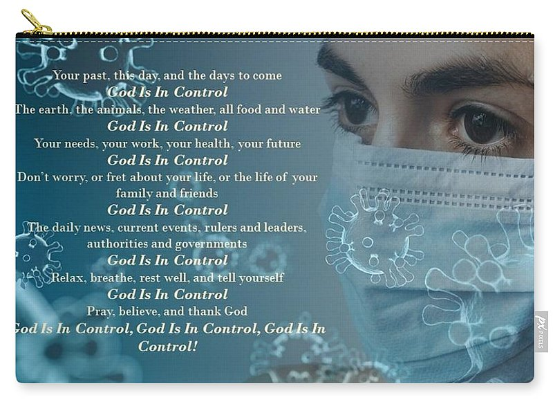 Virus - God Is In Control - Carry-All Pouch - Love the Lord Inc