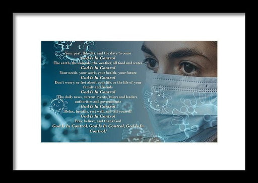 Virus - God Is In Control - Framed Print - Love the Lord Inc