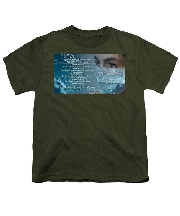 Virus - God Is In Control - Youth T-Shirt - Love the Lord Inc