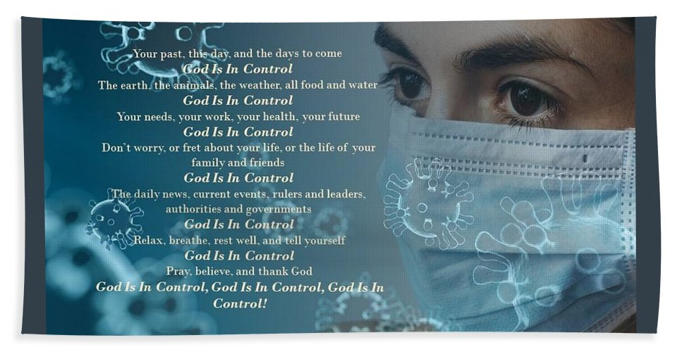 Virus - God Is In Control - Bath Towel - Love the Lord Inc