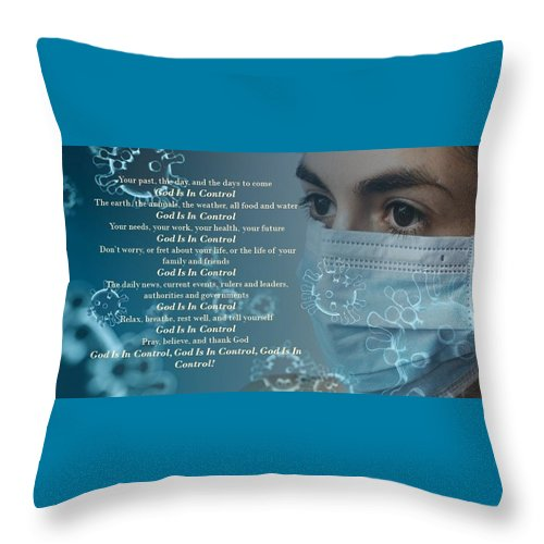 Virus - God Is In Control - Throw Pillow - Love the Lord Inc