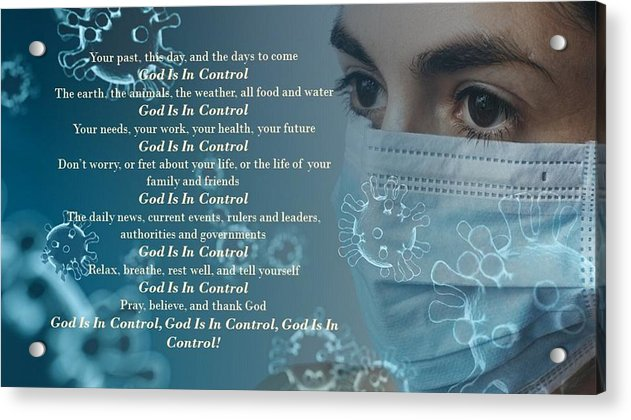 Virus - God Is In Control - Acrylic Print - Love the Lord Inc
