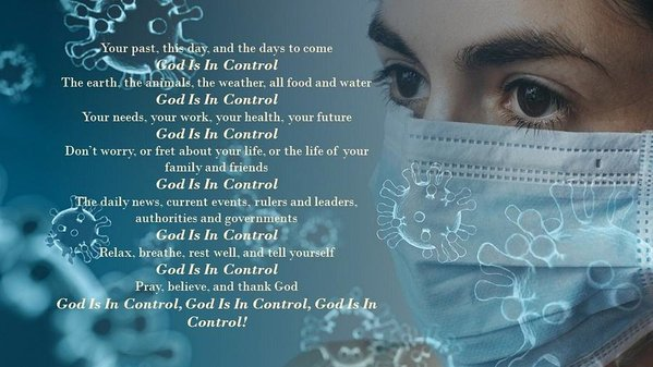 Virus - God Is In Control - Art Print - Love the Lord Inc