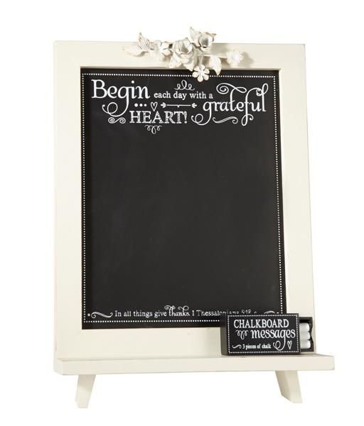 Chalkboard - Begin Each Day With a Grateful Heart - Love the Lord Inc