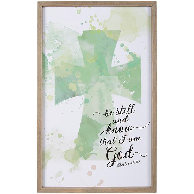 "Christian Wall Art - ""Be Still and Know That I Am God"" - Love the Lord Inc"