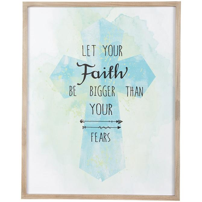 Christian Wall Art - Faith Bigger Than Fear - Love the Lord Inc