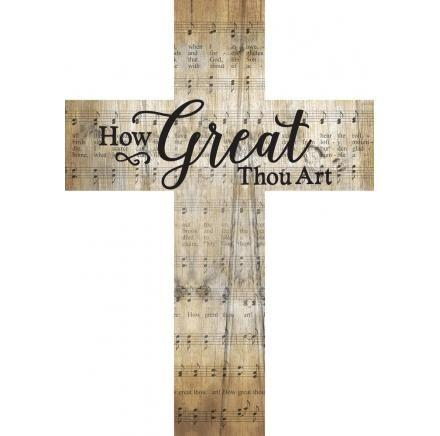 Wall Art - Cross - How Great Thou Art
