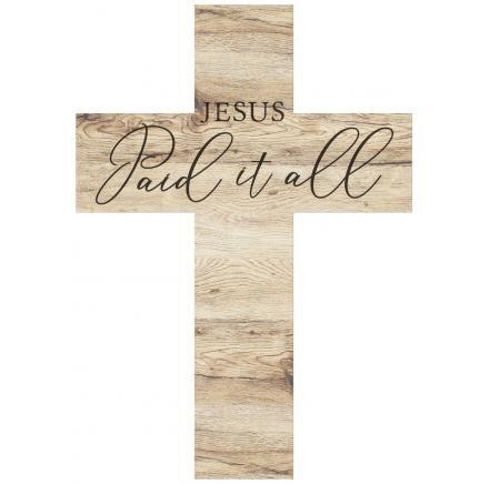 Wall Art - Cross - Jesus Paid It All