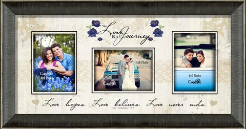 Wall Art - Photo Frame - Love Is A Journey (Christian)