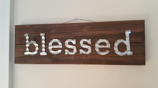 Wall Art - Blessed (Wood) - Love the Lord Inc