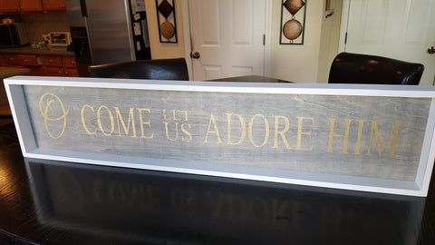 Wall Art - Wall Art - Framed O Come Let Us Adore Him