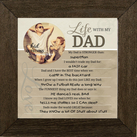 Wall Art - Wall Art - Kid Question Frame Dad
