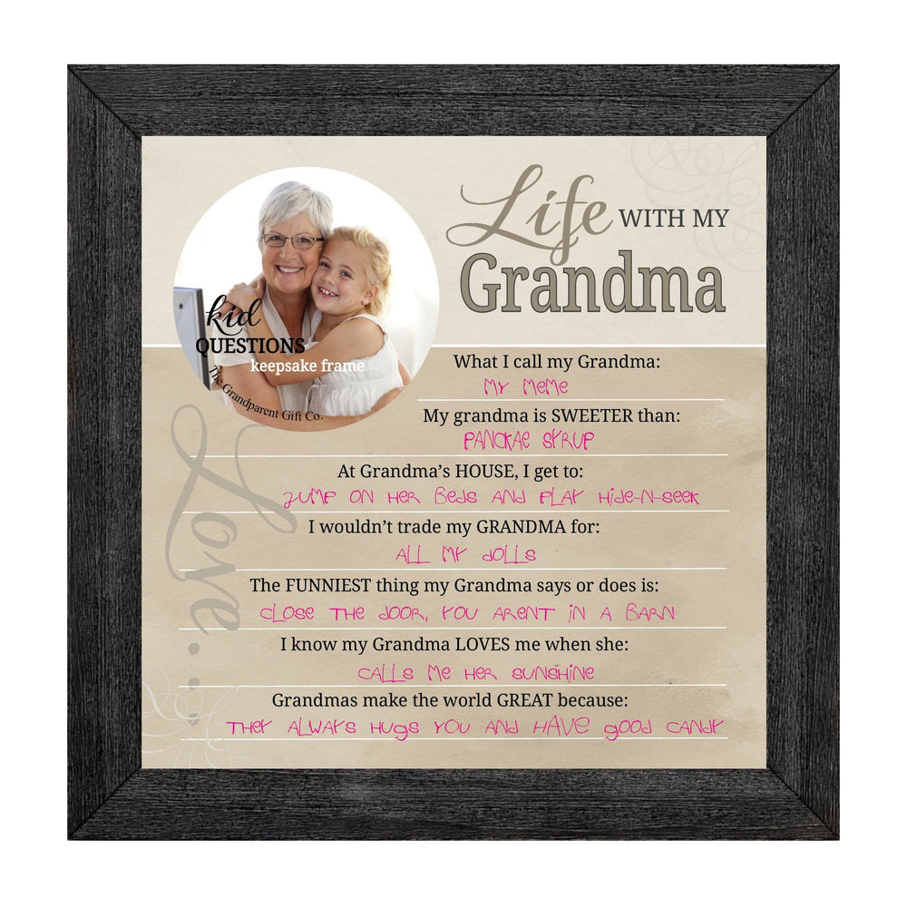 Wall art - Kid Question Frame Grandma - Love the Lord Inc
