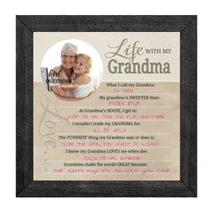 Wall Art - Wall Art - Kid Question Frame Grandma