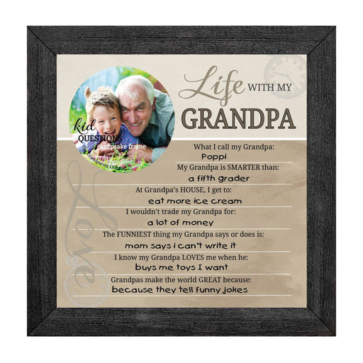 Wall art - Kid Question Frame Grandpa - Love the Lord Inc