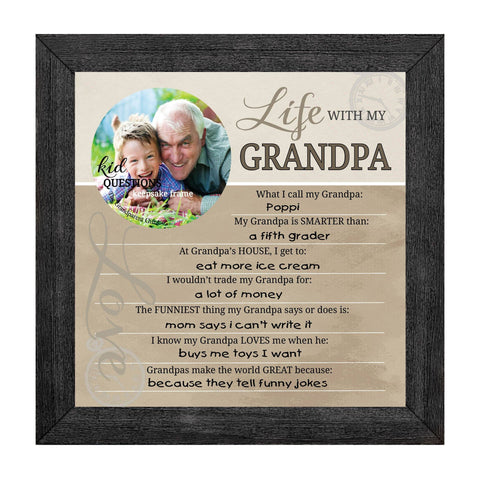 Wall Art - Wall Art - Kid Question Frame Grandpa