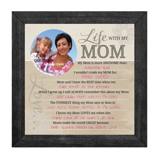 Wall art - Kid Question Frame Mom - Love the Lord Inc