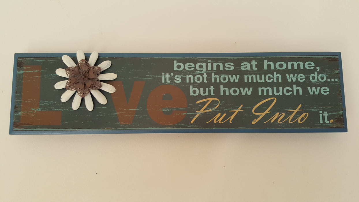 Wall Art - Love Begins At Home - Love the Lord Inc