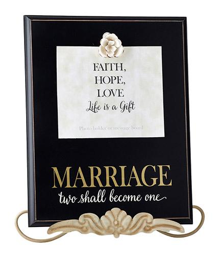 "Wall Art - Marriage ""Two Become One"" - Love the Lord Inc"