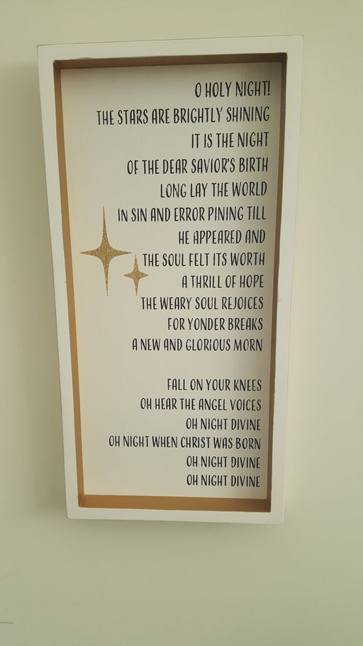 Wall Art - O Holy Night - Love the Lord Inc