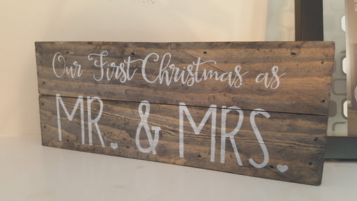 Wall Art - Our First Christmas As Mr. & Mrs. - Love the Lord Inc