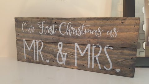 Wall Art - Wall Art - Our First Christmas As Mr. & Mrs.
