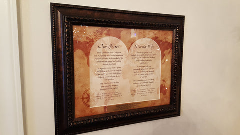 Wall Art - Wall Art - Pastor And Wife Appreciation (With Engraving)