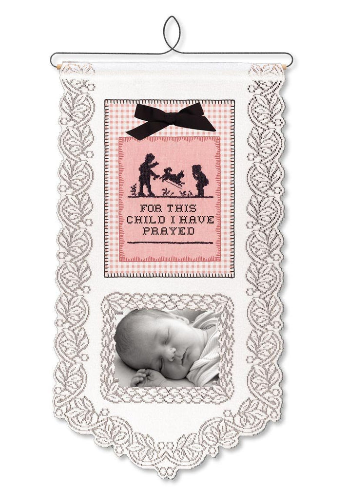 Wall Hanging - For This Child I Have Prayed (Girl) - Love the Lord Inc