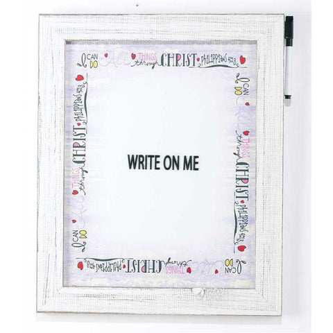 Wall Art - Write Board - I Can Do All Things Through Christ