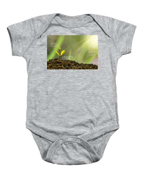 We Plant God Waters - Baby Onesie - Love the Lord Inc