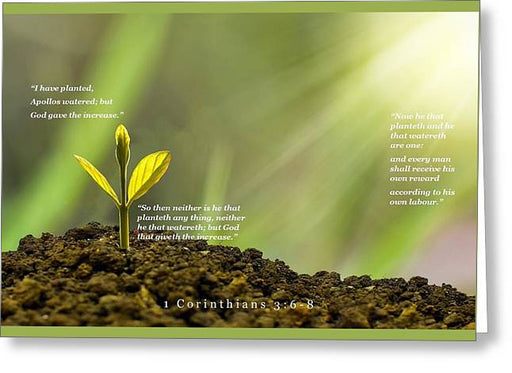 We Plant God Waters - Greeting Card - Love the Lord Inc