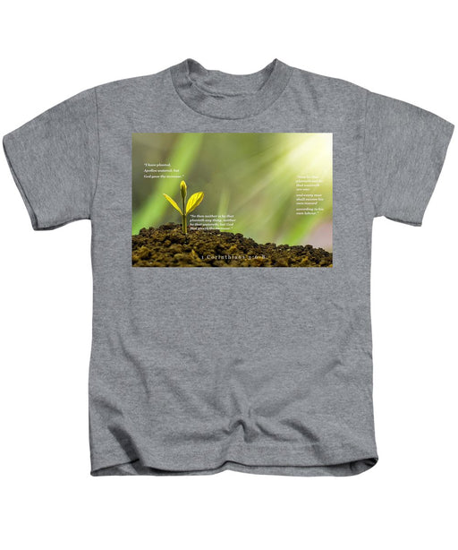 We Plant God Waters - Kids T-Shirt - Love the Lord Inc