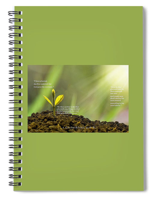 We Plant God Waters - Spiral Notebook - Love the Lord Inc
