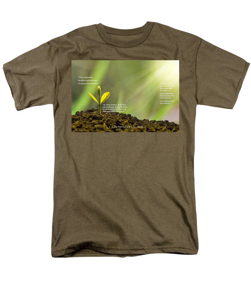 We Plant God Waters - Men's T-Shirt  (Regular Fit) - Love the Lord Inc