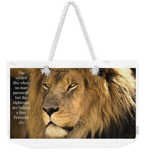 Bold As A Lion - Weekender Tote Bag - Love the Lord Inc