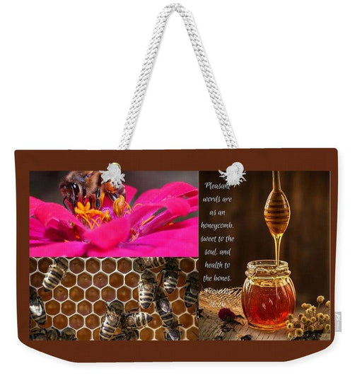 Pleasant Words And Honey - Weekender Tote Bag - Love the Lord Inc