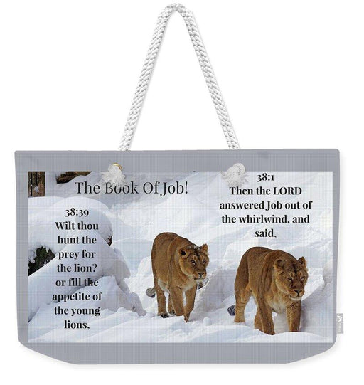 The Book Of Job 2lions - Weekender Tote Bag - Love the Lord Inc