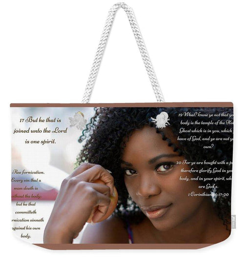 Your Body Is Not Your Own - Weekender Tote Bag - Love the Lord Inc