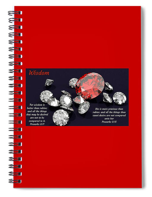 Wisdom Rubies and Proverbs - Spiral Notebook - Love the Lord Inc