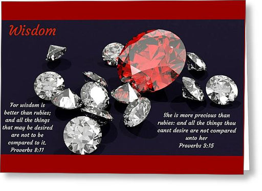 Wisdom Rubies And Proverbs - Greeting Card - Love the Lord Inc