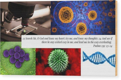 Search Me Oh Lord - Microscope - Wood Print - Love the Lord Inc