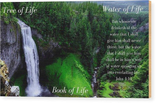 Tree Book Water Of Life - Wood Print - Love the Lord Inc